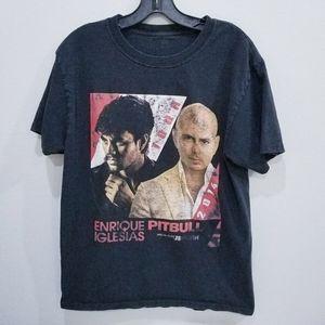 2014 Enrique Iglesias Pitbull band tour t shirt